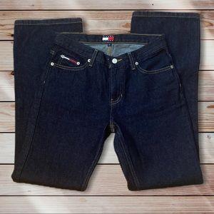 Vintage Tommy Hilfiger Dark Wash Flair Mom Jeans